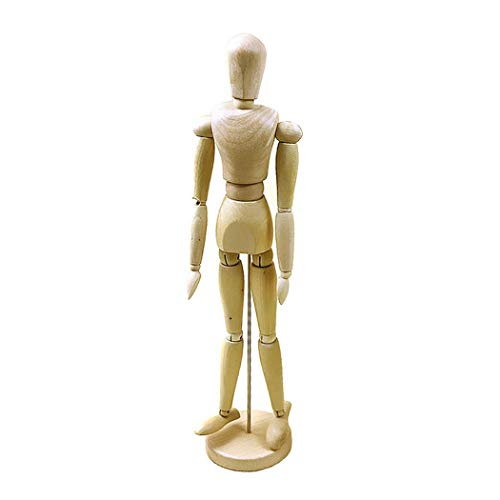 VanSP Multi Size 4.5''-16'' The Human Figure Body Dynamic Model of Sketch Wooden Manikin Jointed Mannequin with Stand for Home Decoration Artists Drawing 4.5''/11cm