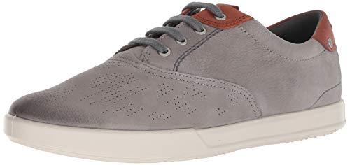 Ecco Herren Collin 2.0 Sneaker, Grau (Warm Grey/Cognac 58267), 45 EU