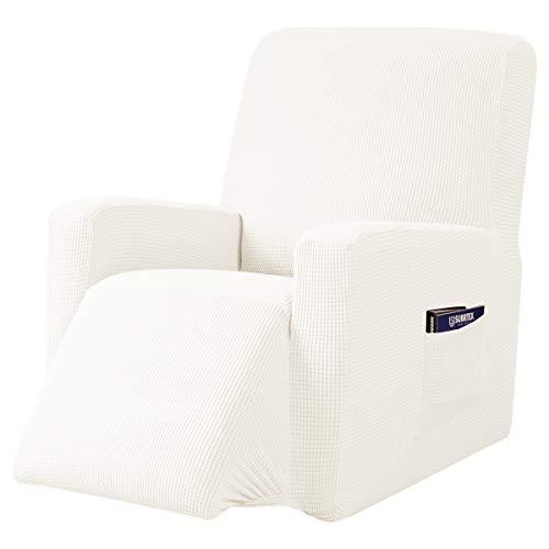 subrtex 1 Pieza Funda reclinable Extensible 1 Plaza protección Solar (Crema)