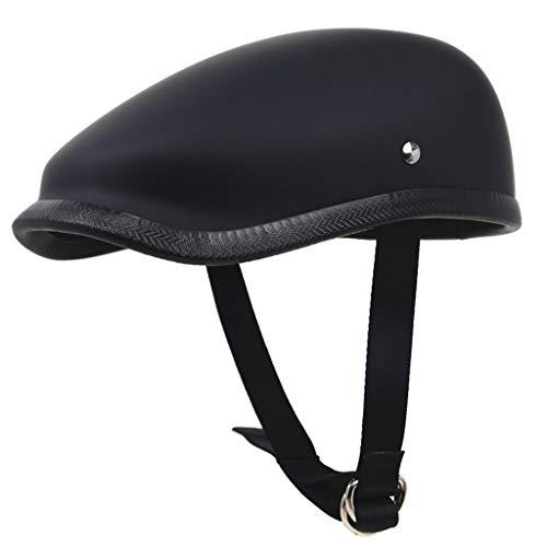 Helmets Cascos ZZQ Retro Cruiser Scooter Moto para Hombre y Mujer Choque...