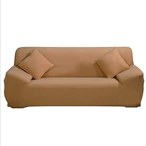 ele ELEOPTION Sofa Überwürfe Sofabezug Stretch elastische Sofahusse Sofa Abdeckung in Verschiedene Größe und Farbe Herstellergröße 195-230cm (Khaki, 3 Sitzer für Sofalänge 170-220cm)