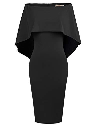 GRACE KARIN Women Ruffle Off The Shoulder Dress Bodycon Midi Dress XL...