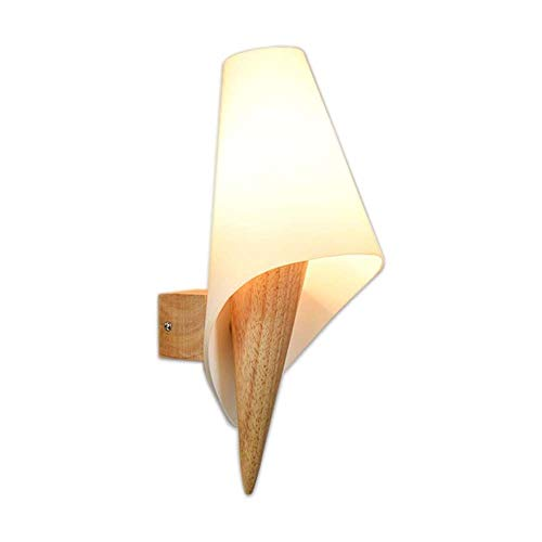 Iluminación de Interior Lámparas de pared Lámpara de pared, simple de madera creativa del vidrio, usados para el dormitorio, sala de estar, estudio, Pasillo, Porche, Balcón, Pasillo y de la iluminac