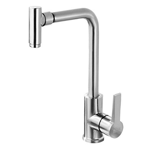Preisvergleich Produktbild Cqq Wasserhahn Küchenwaschbecken heißer und kalter Wasserhahn Edelstahl Waschbecken Wasserhahn kann gedreht werden