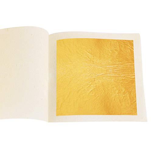 KINNO - Papel de oro de 24 quilates, comestible, para manualidades, alimentos,...