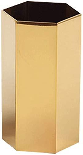 CHUTD Bol de Jardin Pot écologique Vase en métal pour la Maison décoration créative Fleurs d'or Titulaire Bureau décoration Bol en Plastique Yamato (Couleur: Or, Taille: 55mmx106cm)