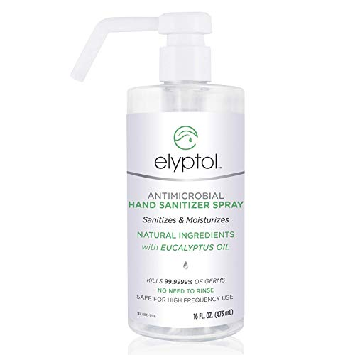 Elyptol Antimicrobial Hand Sanitizer Spray (16oz) - Natural and Hospital-Grade with Eucalyptus Oil, Sanitises and Moisturizes, Gentle on Skin, Kills 99.9999% of Germs