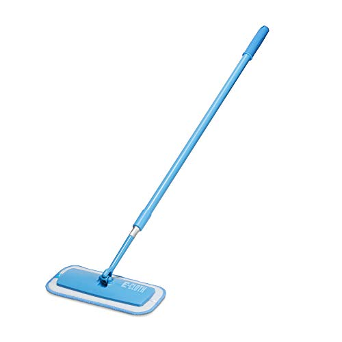 E-Cloth - Limpiador telescópico 8930251 de microfibra. 27 cm x 13 cm, color azul, aluminio, azul, 33 x 14 x 98 cm