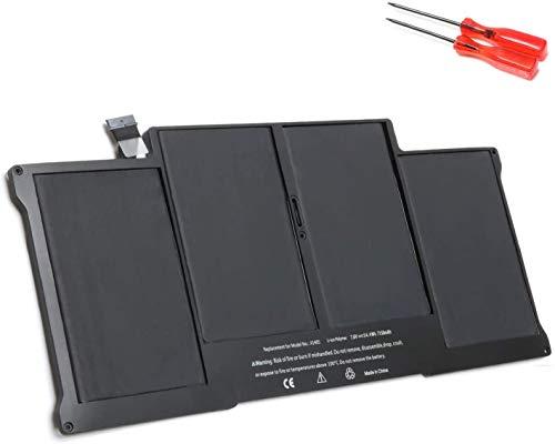 Batería de portátil para MacBook Air 13' A1405 A1377 A1496 (A1369 a Finales de 2010 y Mediados de 2011) (A1466, Mediados de 2013, principios de 2014, principios de 2015) [6800mAh 54.4Wh 7.6V]