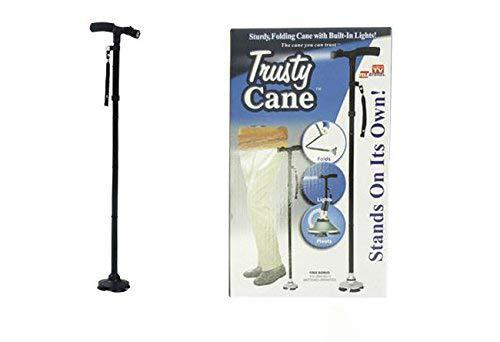 Ducomi® Bastone da passeggio Trusty Cane con luce a LED altezza regolabile pieghevole