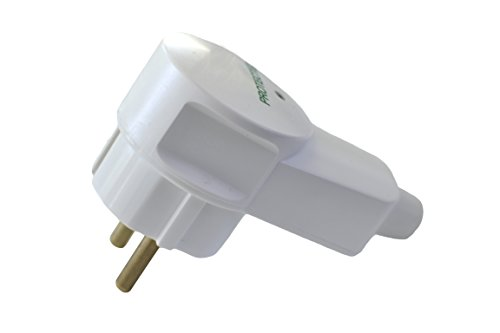 Schuko Winkel-Stecker weiß mit Überspannungsschutz Schutzkontakt Weiss IP20 16A~250V