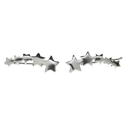 Pendientes climbers estrella fugaz Plata de Ley - Pendientes trepadores plata