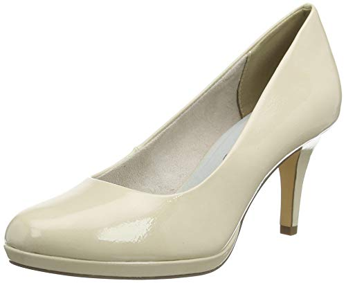 Tamaris Damen 1-1-22444-24 Pumps, Beige (Cream PATENT 451), 39 EU
