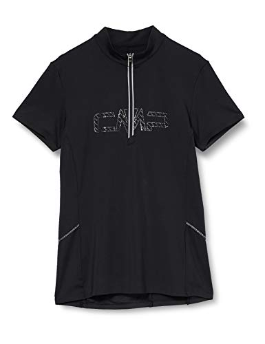 CMP Damen Bike T-Shirt Logo 30C7916, Nero, D40