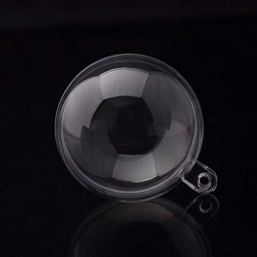 JiXUN, Stampo in plastica Trasparente per Bombe da Bagno Fai da Te, con Palline di Natale da 4/5/6/7/8/10/12/14/16 cm, Prodotti creativi per la Decorazione della casa 4cm Ball