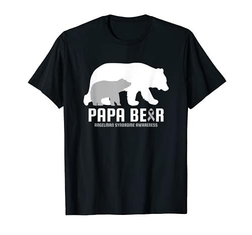 Síndrome de Angelman Conciencia Enfermedad cerebral relacionada Papa Bear Camiseta