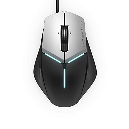 Alienware Elite Gaming Mouse AW959 with 12, 000 DPI Pixart Optical Sensor Featuring Redesigned Side Wings for Improved Grip and Alienfx with RGB Lighting (Renewed)