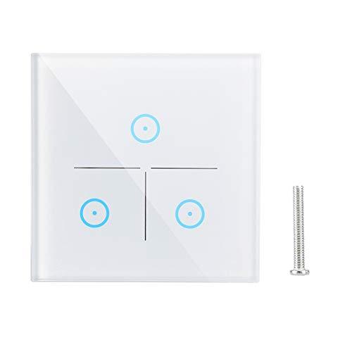 XINL Interruptor de luz WiFi, Interruptor de Pared de sincronización AC 100-250V, para Accesorios de Seguridad de Consola de Dispositivo electrónico de Seguridad Inteligente