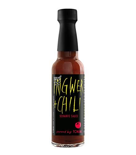 TOMAMI Ingwer+Chili - 90 ml | SCHARFE SAUCE | umami-BOOST | zum Grillen, Dippen & Sandwiches