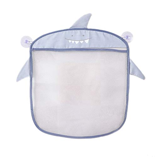De pared colgante de la historieta de baño bolsas de almaceniento de punto de acopliento de la red de malla bolsa, baño de bebé bolsa del baño del bebé Juguetes Chpú Organizador de contenedores