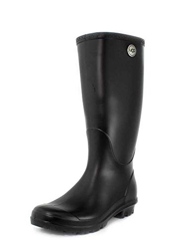 UGG Women's Shelby Matte Rain Boot, black, 9 M US
