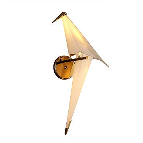 LEERAIN Pájaro De La Grulla De Origami Lámpara De Pared, Moderno LED Lámpara De Noche, Creativo por Desván Habitación Estudiar Vestíbulo Restaurante Habitación