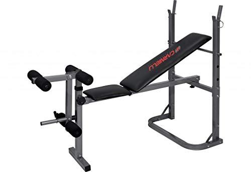 Panca Carnielli Gymfit 450 per Gambe e Addominali Panca Fitness Multifunzione Regolabile con supporti