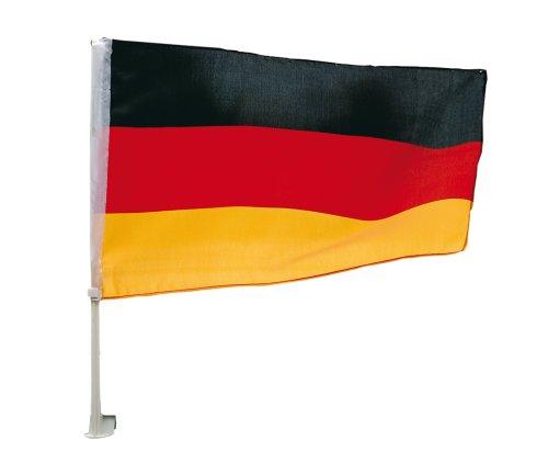 TIB Heyne 15519 - Deutschland Auto-Fahne, schwarz/rot/Gold