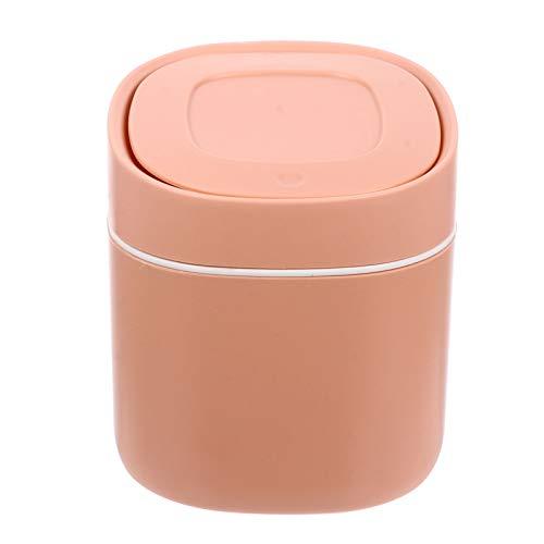 Scicalife Cubo de Basura de Escritorio con Tapa Encimera de Escritorio Mini Cubo de Basura para Cuarto de Oficina Escritorio Baño