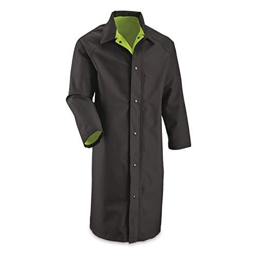 Surplus British Police Reversible Hi Vis Gore-TEX Trench Coat, New, Black, XL