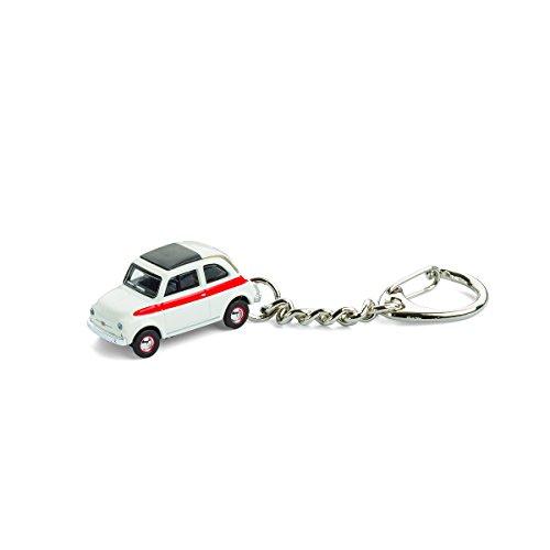 Portachiavi con modellino auto per tutti gli appassionati di auto e auto d'epoca, Fiat 500 Sport, 1:87