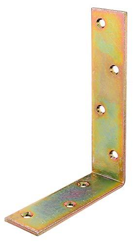 GAH-Alberts 334055 Balkenwinkel | galvanisch gelb verzinkt | 120 x 180 x 40 mm | 20er Set