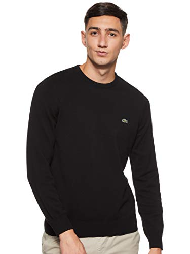 Lacoste Ah3467 suéter, Negro (Noir/Farine-Noir N72), Medium (Talla del Fabricante: 4) para Hombre