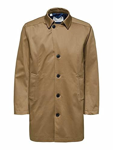 SELECTED HOMME SLHNEW Timeless Coat B Noos Abrigo, Madera de Roble, M para Hombre