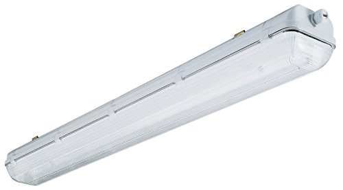 Lithonia Lighting XWL232 MV 4-Feet 32W T8 Wet Location Industrial Enclosed and Gasketed Fluorescent Fixture, Grey