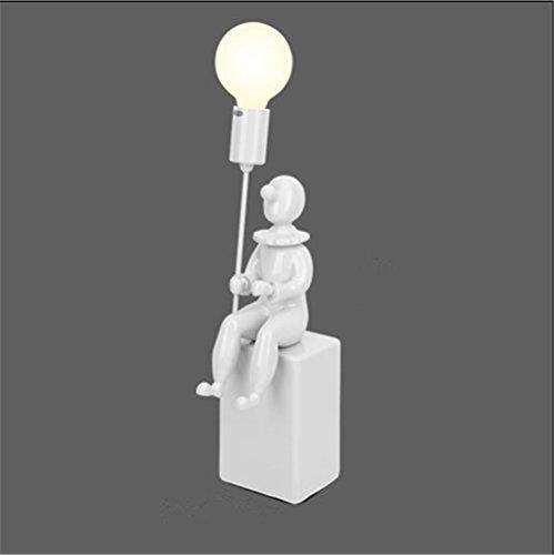 Lampe de table Moderne de Bande Dessinée Ballon Clown Lampe De Bureau Creative Art Design Lampe De Chevet Lampe De Table Pour Beau Cadeau Décorations De Bureau À Domicile, B