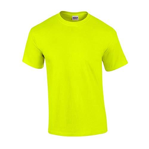 Gildan - T-Shirt 'Ultra Cotton' Large,Safety Green-Yellow