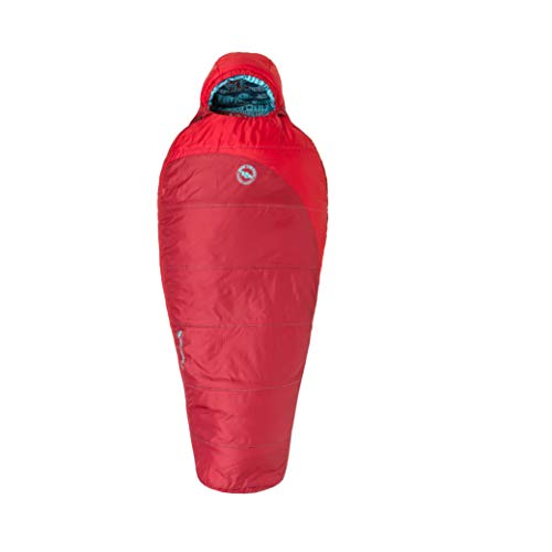 Big Agnes Wolverine 15 Kids' Synthetic Sleeping Bag, Red, Right
