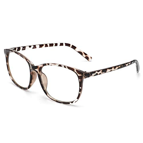 Cyxus Blue Light Blocking Glasses Square Computer Eyewear Clear Lens Eyeglasses Frame (Leopard #2) (8121T03&Leopard)