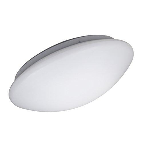 B.K.Licht - Plafón redondo para techo con placas de luz LED adecuado para el cuarto de baño, de luz blanco neutral, protección IP44, 12 W, 1200 lúmenes, 4000k, color blanco