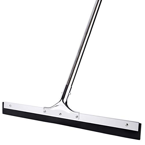 YCUTE Commercial Heavy Duty Floor Squeegee with 22quot Rubber Blade 529quot Stainless Steel Long Handle Best for Moving Fluid Flat Concrete Tile Glass Marble and Wood Surfaces
