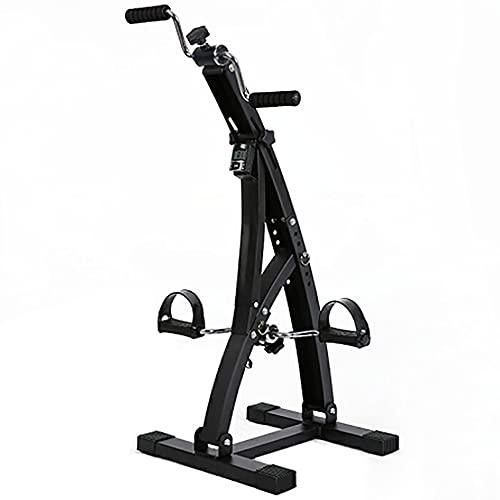 Entrenador de Pies y Manos, Bicicleta de Rehabilitacion ajustable, ejercitador de rehabilitación de extremidades superiores e inferiores para ancianos/Black / 84x41x40cm