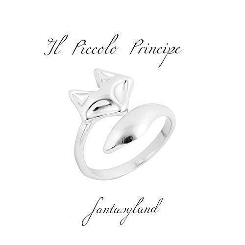anello volpe fox piccolo principe regolabile regalo favora amore amicizia