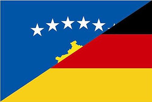 U24 Fahne Flagge Kosovo-Deutschland Bootsflagge Premiumqualität 100 x 150 cm