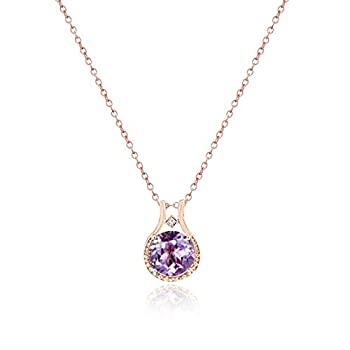 Best rose gold amethyst necklace Reviews
