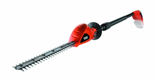 BLACK+DECKER GTC1843LB-XJ Taille-haies sur perche sans fil - Ecartement : 12 mm - Vitesse : 1400 trs/min - Tête pivotante 5 positions, 18V, Orange, 43 cm