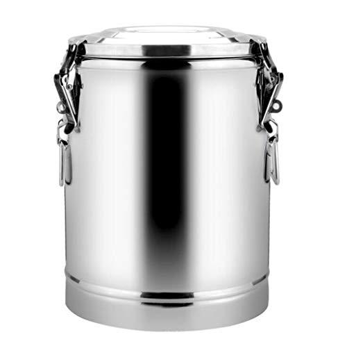 GHKWXUE roestvrijstalen geïsoleerde emmer, 10L-70L commerciële soeplepel thee emmer rijst emmer sojamelk barrel kokend water emmer, grote capaciteit verdikking warming-emmer ijsbak