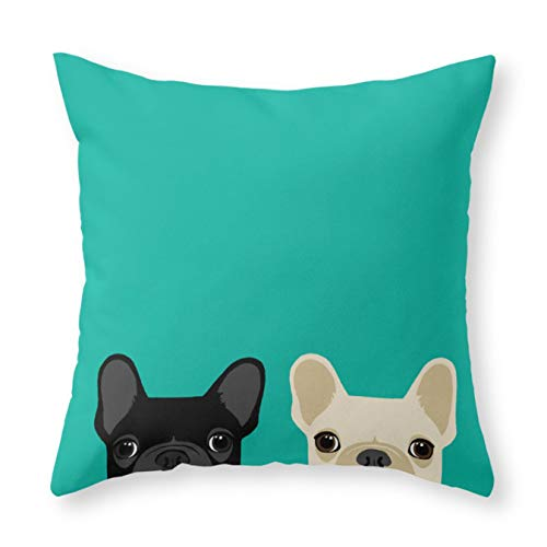 Society6 2 French Bulldogs by Anne was Here on Throw Pillow