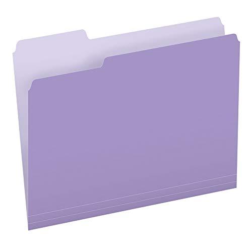 Pendaflex Two-Tone Color File Folders, Letter Size, 1/3 Cut, Lavender, 100 Per box (152 1/3 LAV)