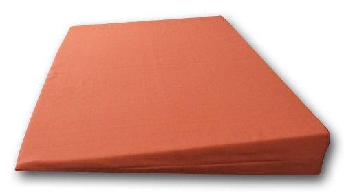 Matratzenkeil aus Schaumstoff Rg 35 mit Baumwollbezug 90 x 50 x 10/1cm creme